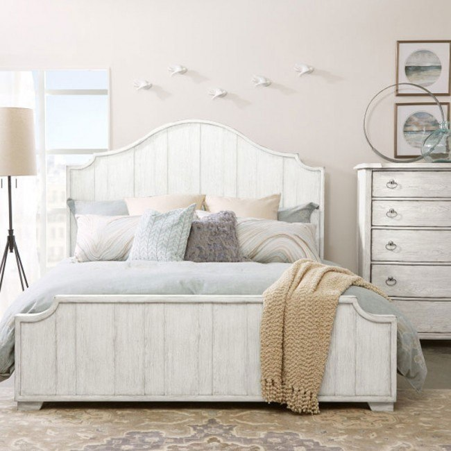 Modern Authentic Shaped Headboard Panel Bedroom Set