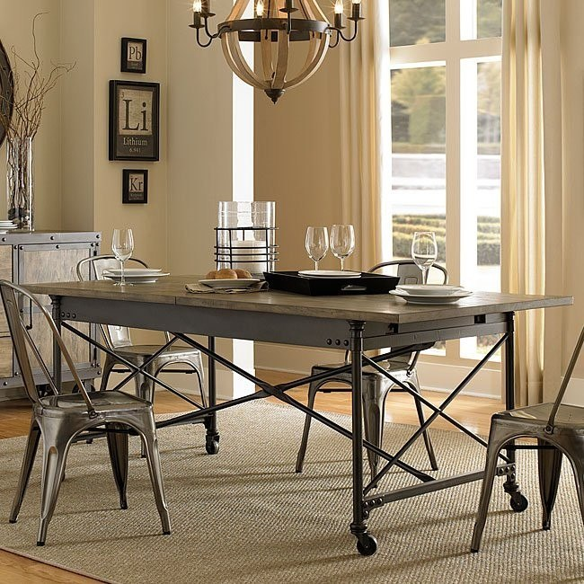 Walton Rectangular Dining Table W Casters