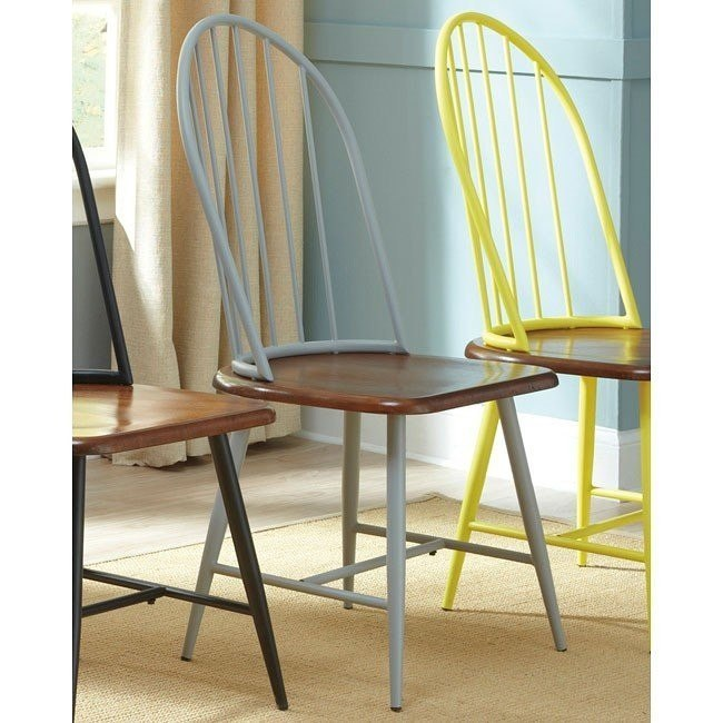 Shanilee Side Chair (Set of 2) (Gray)