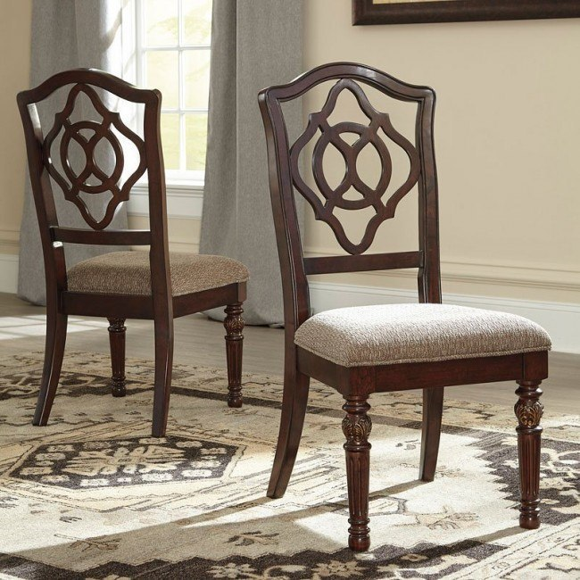 Leahlyn Reddish Brown Side Chair (Set of 2)