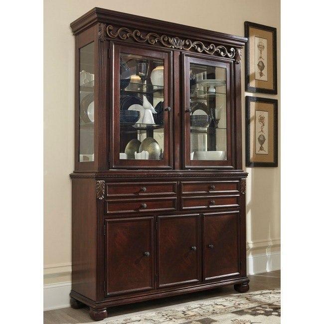 Ashley Furniture Glosco Kitchen Hutch: Leahlyn Reddish Brown Buffet W/ Hutch By Signature Design
