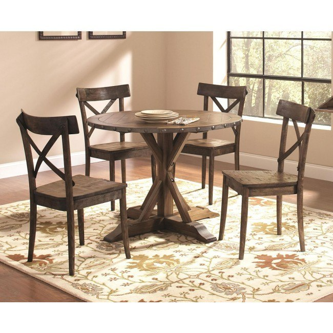 Lance Round Dining Room Set w/ Chair Choices