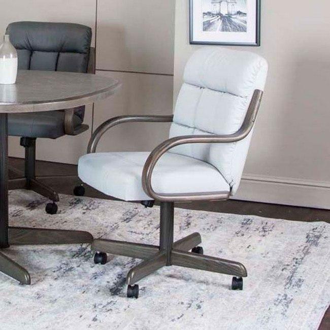 Miraculous Mercury Light Gray Bonded Leather Swivel Chair Set Of 2 Evergreenethics Interior Chair Design Evergreenethicsorg
