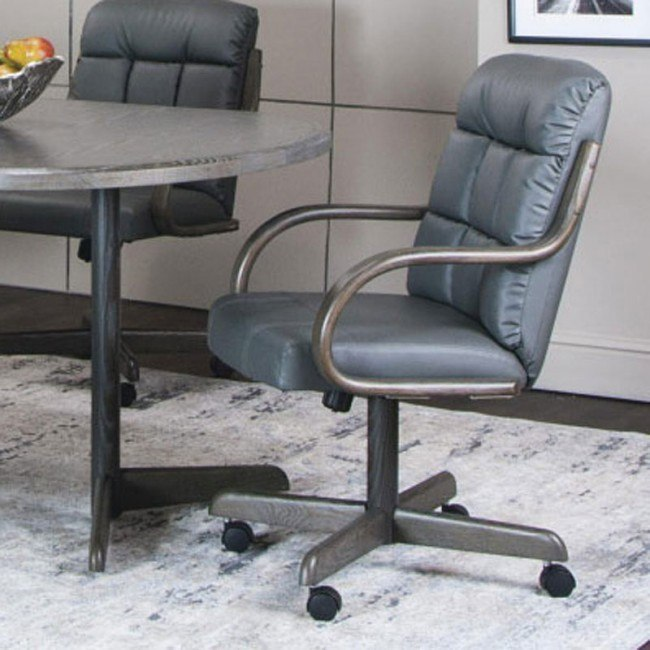 Astounding Mercury Charcoal Bonded Leather Swivel Chair Set Of 2 Evergreenethics Interior Chair Design Evergreenethicsorg