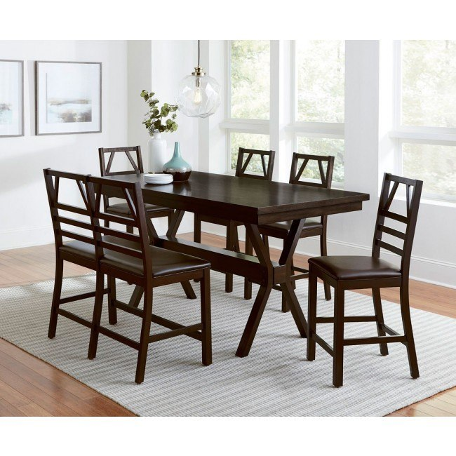 Phenomenal Trusses Counter Height Dining Set W Bench Espresso Ibusinesslaw Wood Chair Design Ideas Ibusinesslaworg