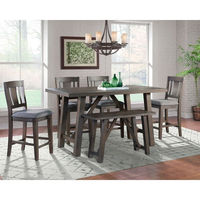 Excellent Cash Counter Height Dining Room Set W Bench Beatyapartments Chair Design Images Beatyapartmentscom