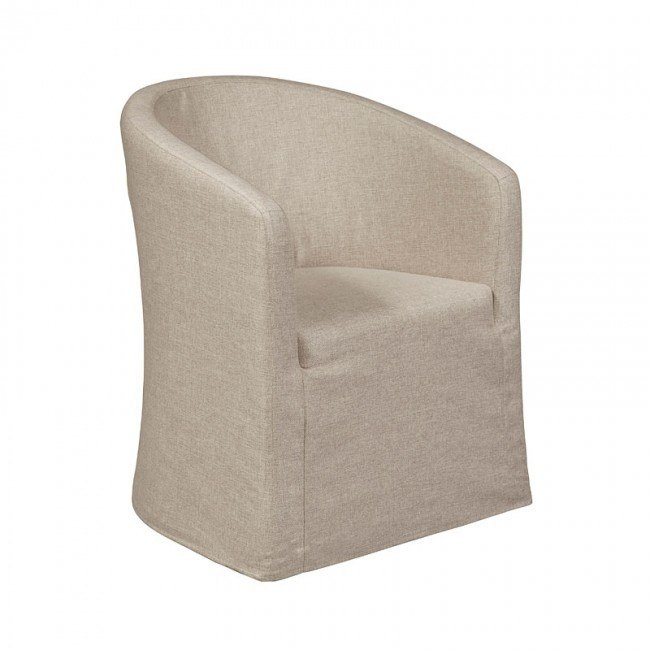 Modern Authentic Slipcover Barrel Back