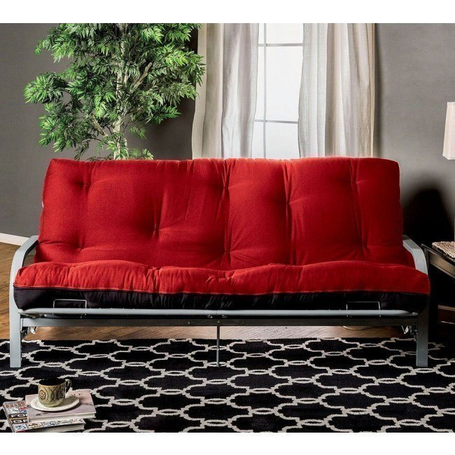 8 Inch Red And Black Futon Mattress W