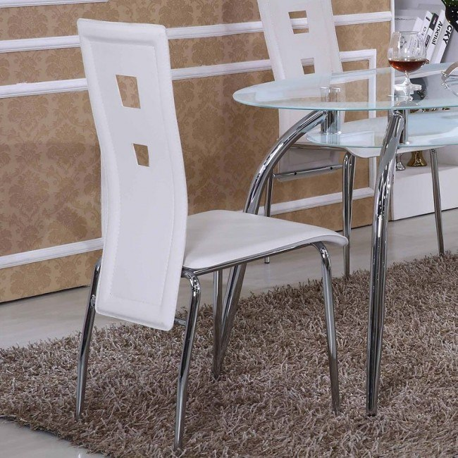 G0197 Side Chair (White) (Set of 4)
