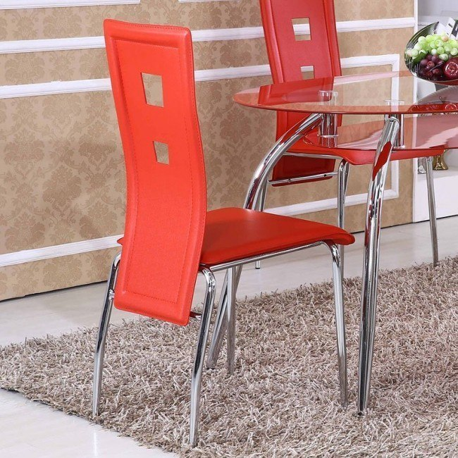 G0198 Side Chair (Red) (Set of 4)