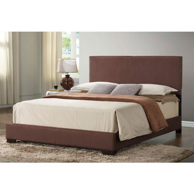 G1802 Upholstered Bed (Brown)