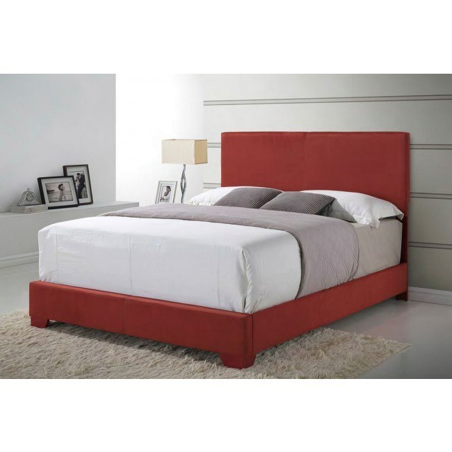 G1804 Upholstered Bed (Red)