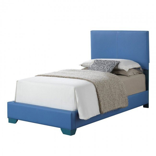 G1808 Youth Upholstered Bed (Sky Blue)