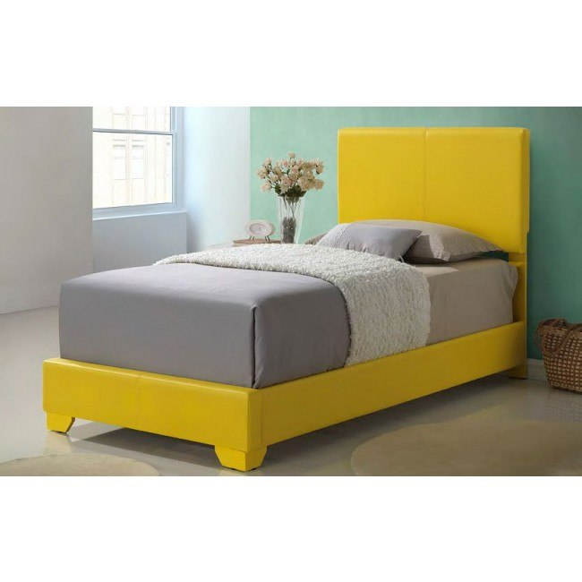 G1810 Youth Upholstered Bed (Yellow)