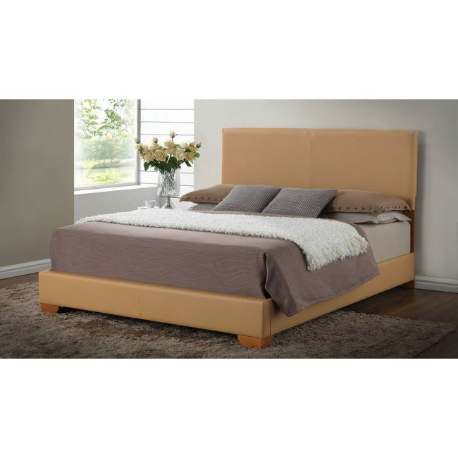 G1860 Upholstered Bed (Tan)