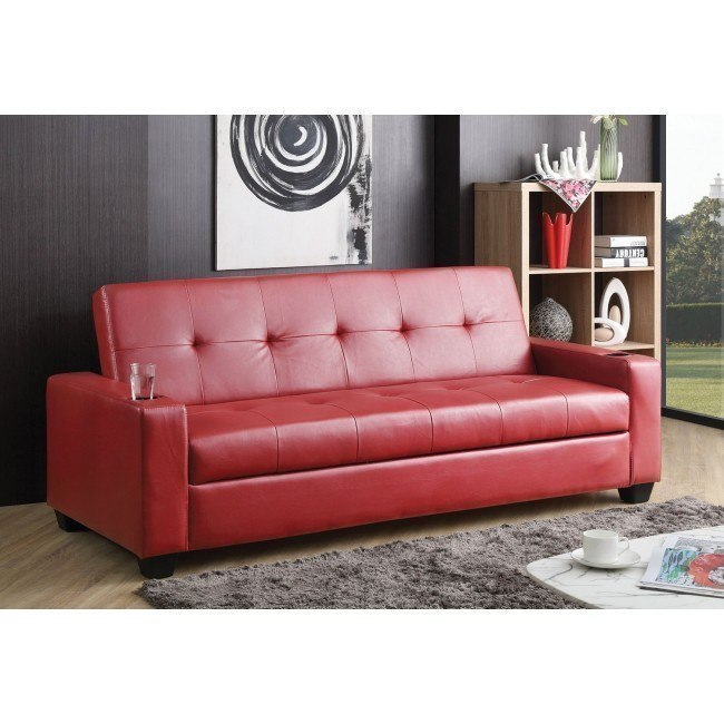 G196 Convertible Sofa Bed (Red)