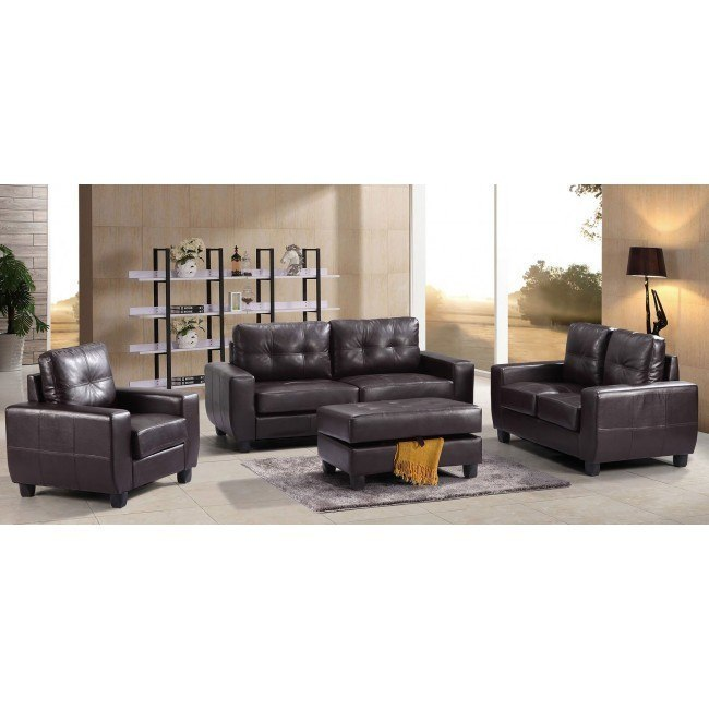 G205 Living Room Set (Cappuccino)