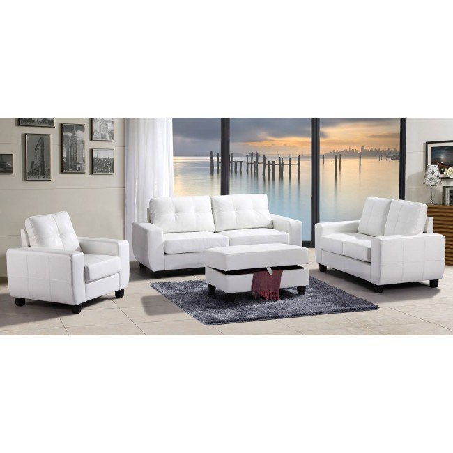G207 Living Room Set (White)