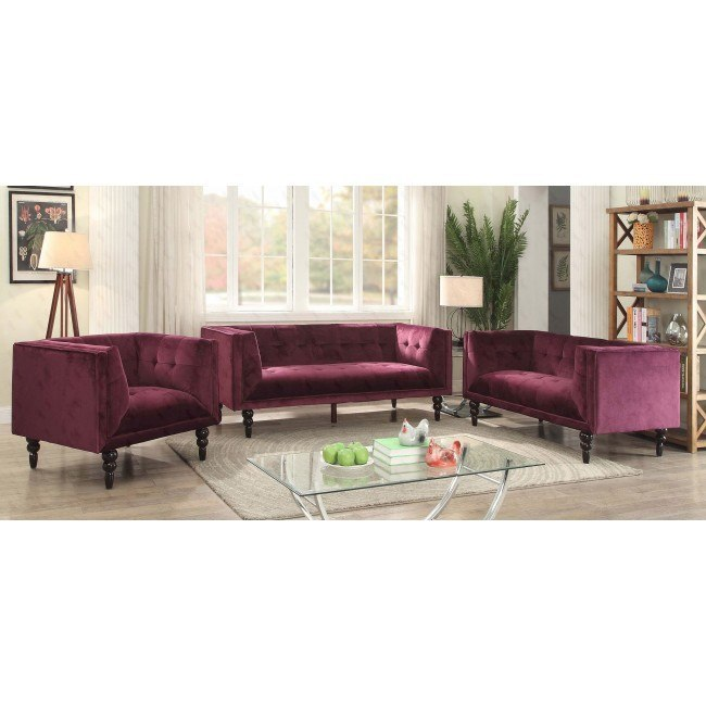 G233 Living Room Set (Purple) By Glory Furniture