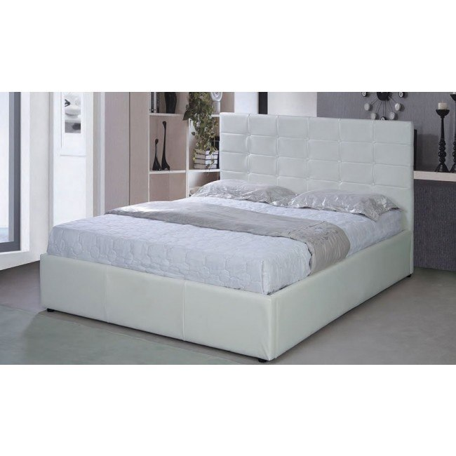G2507 Upholstered Storage Bed (White)