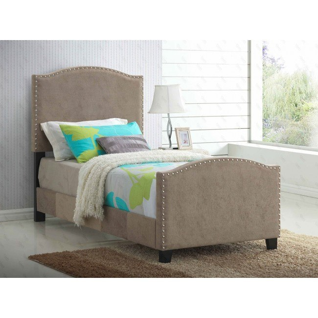 G2571 Youth Upholstered Bed (Beige)