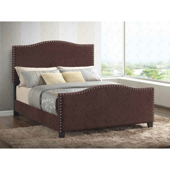 G2572 Upholstered Bed (Brown)
