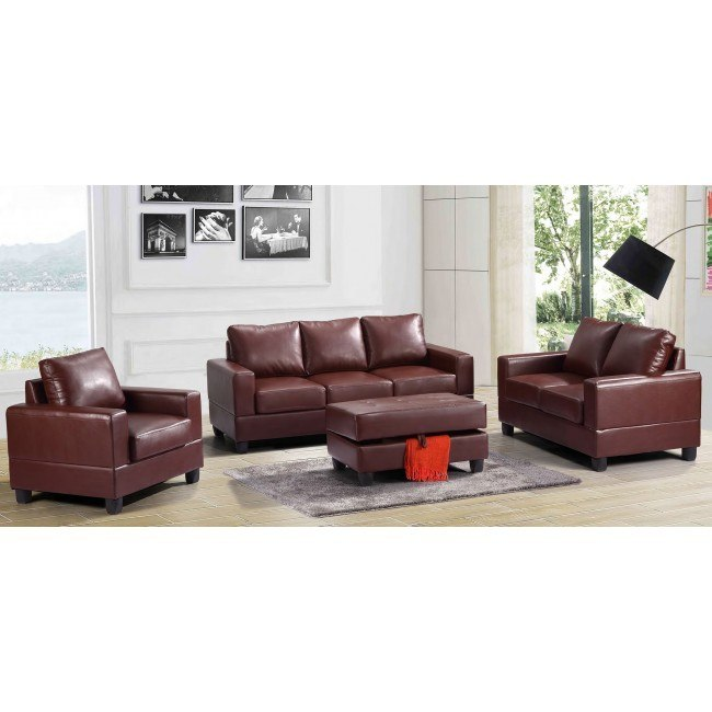 G300 Living Room Set (Brown)