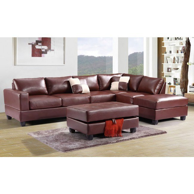 G300 Reversible Sectional Set (Brown)