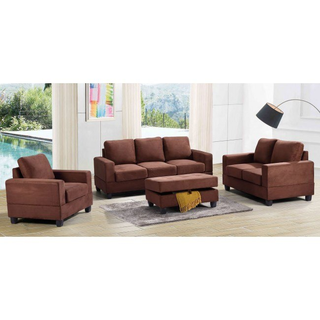 G302 Living Room Set (Chocolate)
