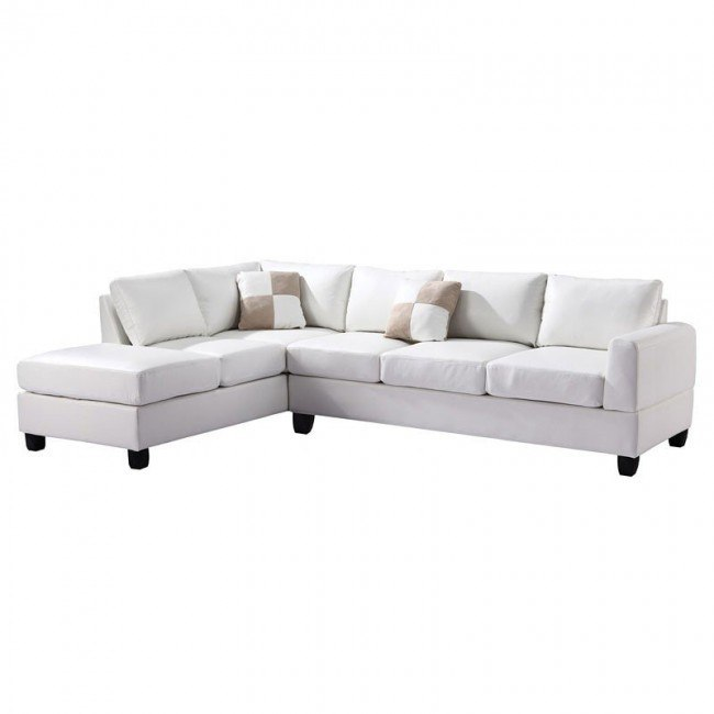 G307 Reversible Sectional (White)