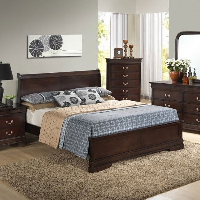 G3125 Sleigh Headboard Bed