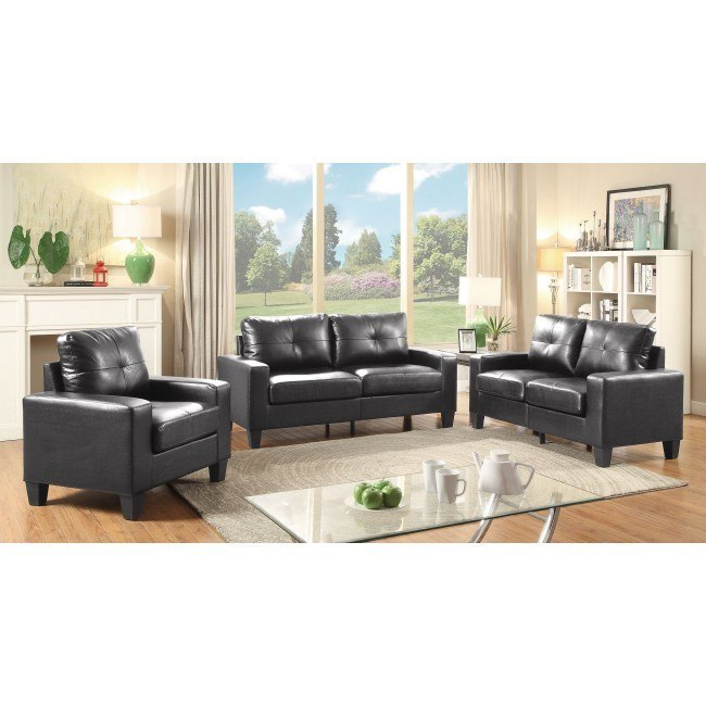 Newbury Living Room Set (Black)