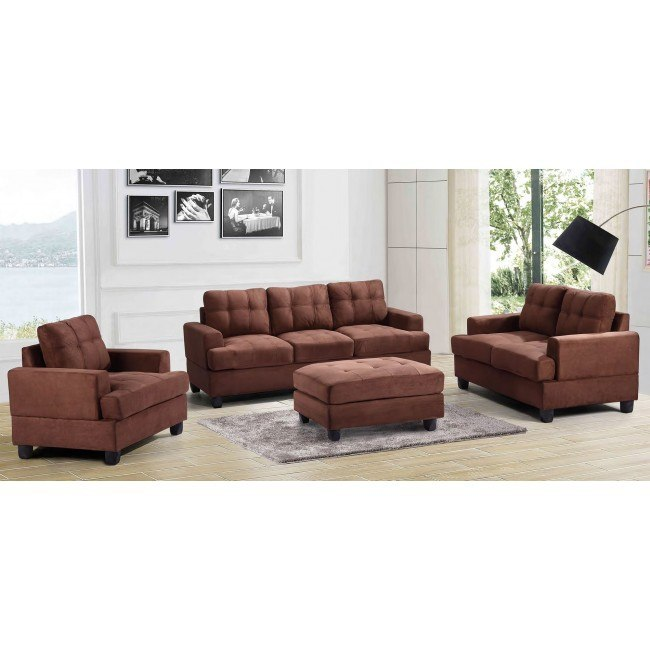 G512 Living Room Set (Chocolate)