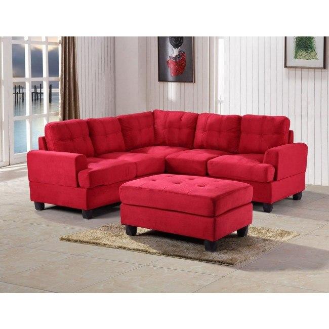 G516 Corner Sectional Set (Red)
