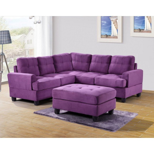 G517 Corner Sectional Set (Purple)