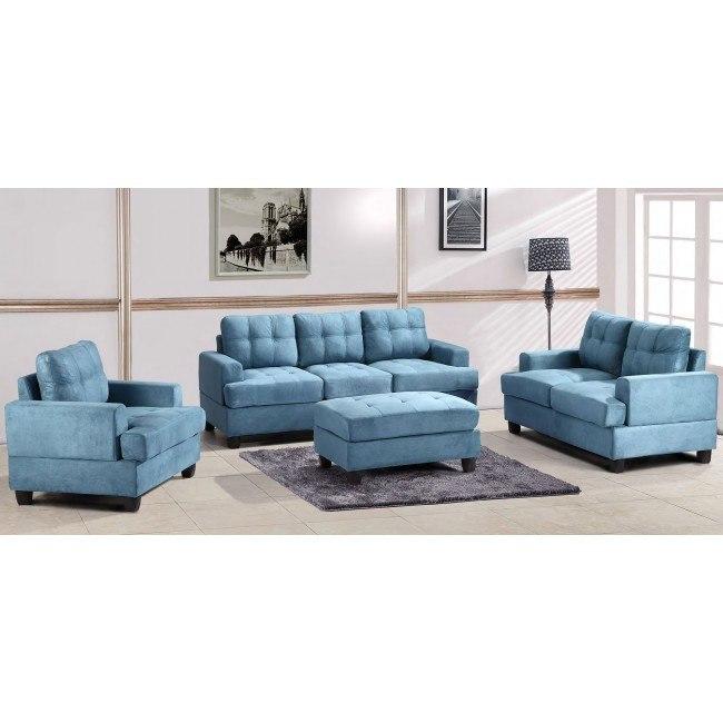 G518 Living Room Set (Aqua)