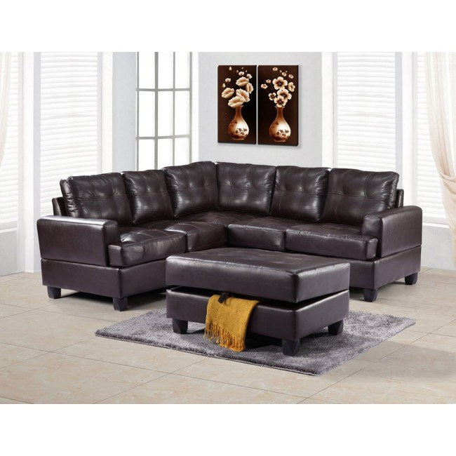 G585 Sectional Set (Cappuccino)