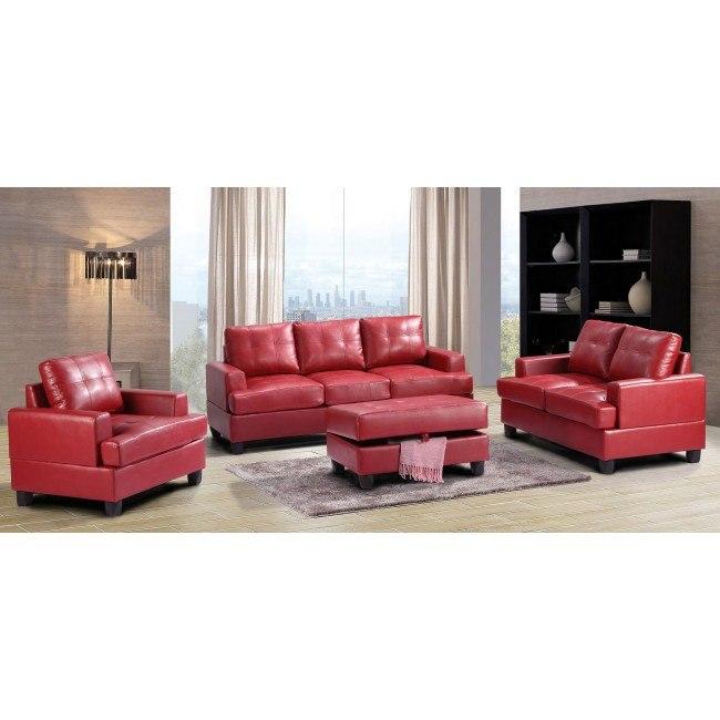 G589 Living Room Set (Red)