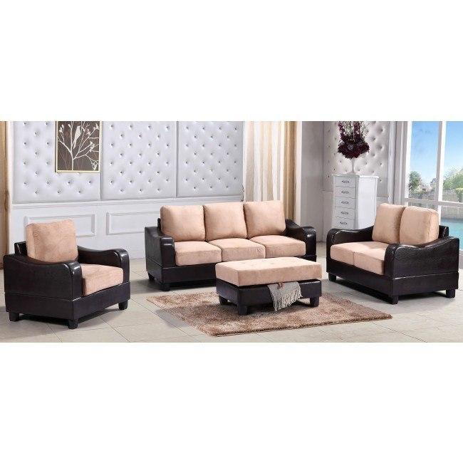 G628 Living Room Set (Mocha and Cappuccino)
