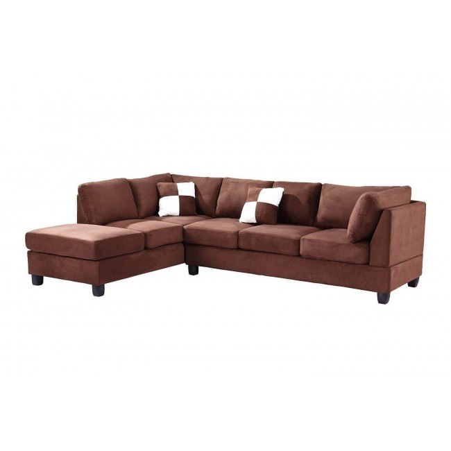 G632 Reversible Sectional (Chocolate)