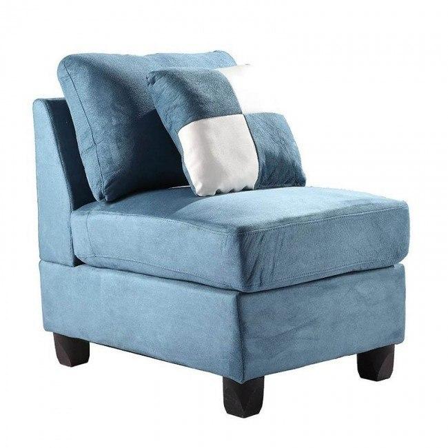 G638 Armless Chair (Aqua)