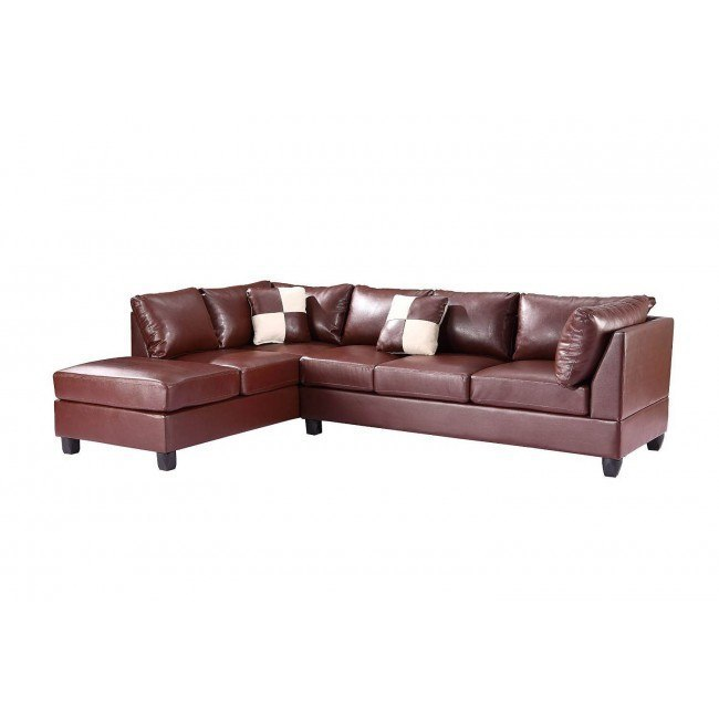 G640 Reversible Sectional (Brown)