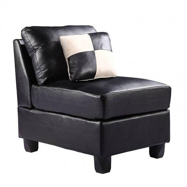 G643 Armless Chair (Black)