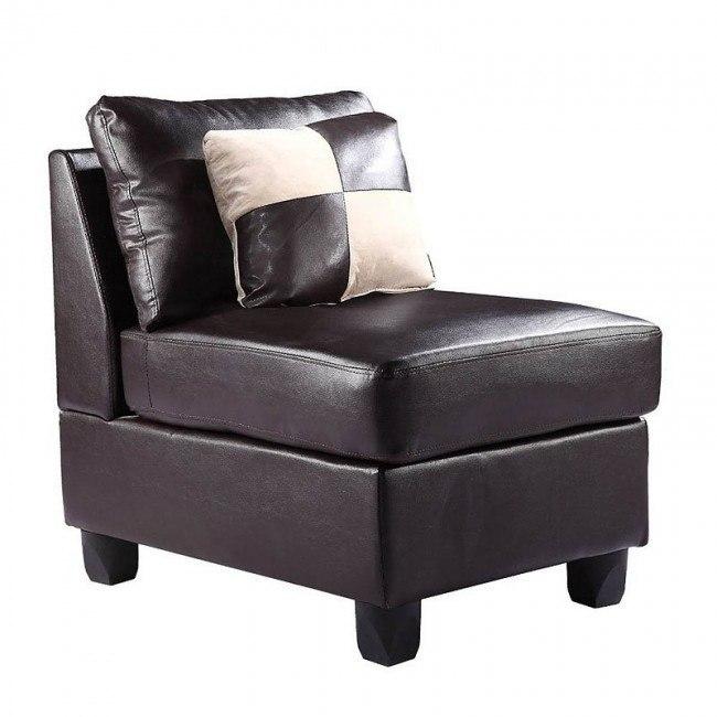 G645 Armless Chair (Cappuccino)