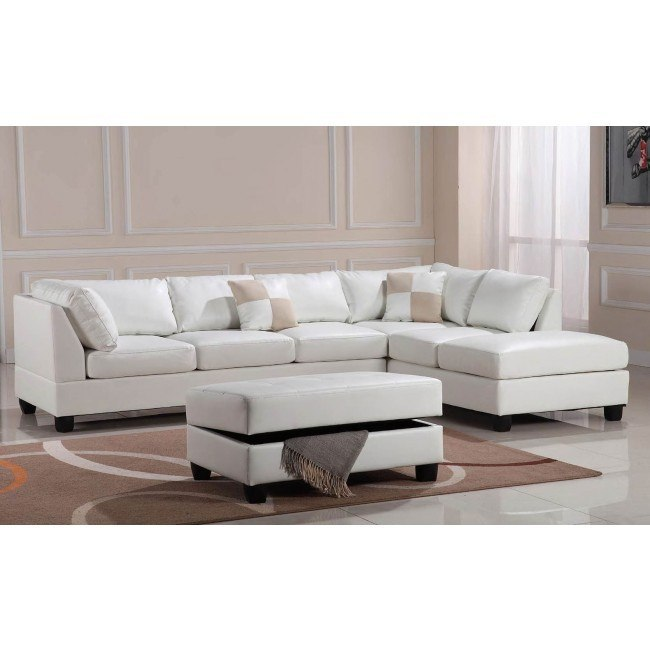 G647 Reversible Sectional Set (White)