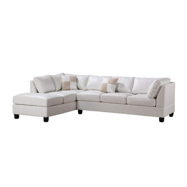 G647 Reversible Sectional (White)