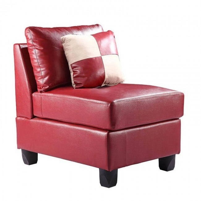 G649 Armless Chair (Red)