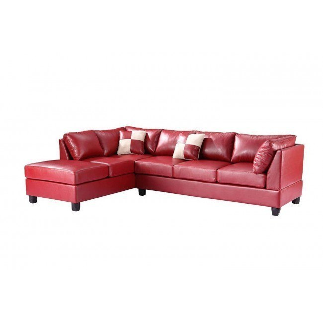 G649 Reversible Sectional (Red)