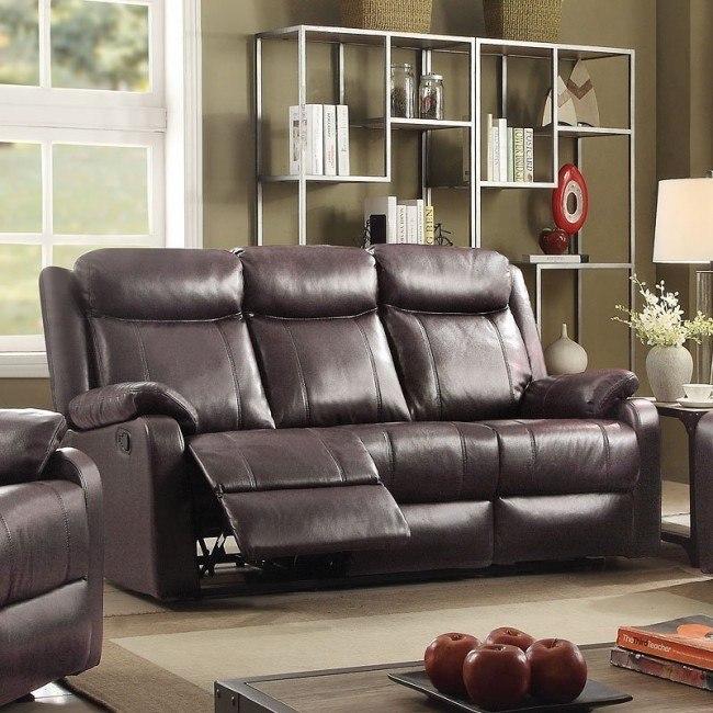 G760 Double Reclining Sofa (Dark Brown)