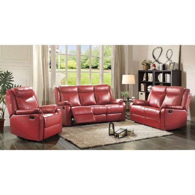 G765 Reclining Living Room Set (Red)